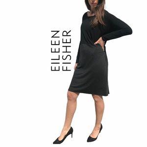 Eileen Fisher- Oversized, Boxy Viscose Dress